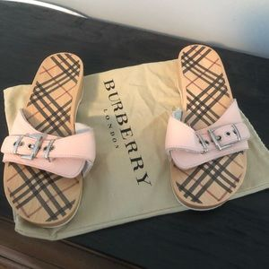 Burberry clog style sandals